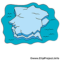 Iceberg dessin gratuit - Océan clip arts gratuits