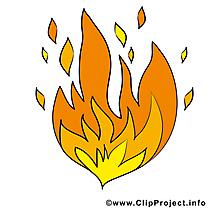 Incendie illustration gratuite - Feu clipart