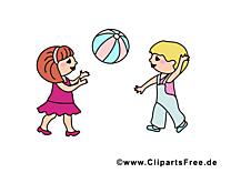 Jouer au ballon cliparts - Maternelle  images gratuites Kopie