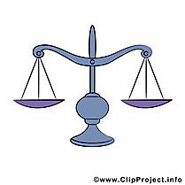 Justice clip arts gratuits - Balance illustrations
