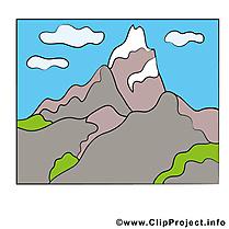 Montagne clipart gratuit - Ciel images