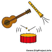 Musique clip art gratuit – Instruments images gratuites