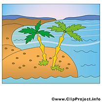 Palmes cliparts gratuis - Plage images gratuites