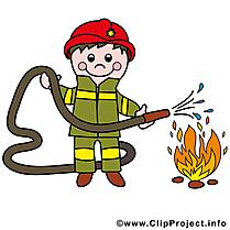 Pompier clipart gratuit - Feu images