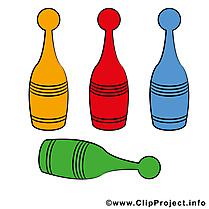 Quilles image à télécharger - Bowling clipart