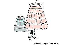 Robe clip art – Chaussures image gratuite