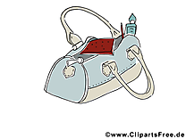 Sac illustration gratuite - Femme clipart
