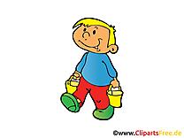 Seaux images - Enfant dessins gratuits