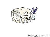 Serviettes image à télécharger - Pot fleurs clipart