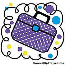 Cartable clip art gratuit – École dessin