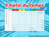 Clipart horaires de cours – École dessins gratuits