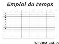 Clipart horaires de cours gratuit – École images