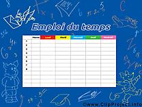 Cliparts gratuis horaires de cours – École images