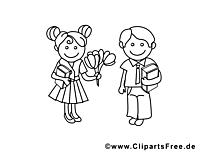 Coloriage enfants – École dessins gratuits