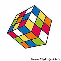 Cube de rubik dessin à télécharger – École images