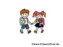 Enfants cliparts gratuis – École images