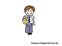 Garçon école illustration à télécharger gratuite