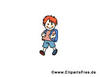 Garçon images – École clip art gratuit