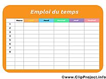 Image à télécharger horaires de cours – École clipart