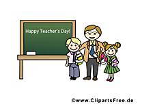 Journée de l'enseignant – École images cliparts