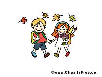 Rentrée clip arts gratuits – École illustrations