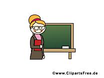 Tableau enseignante dessins gratuits – École clipart