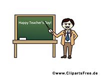 Tableau journée de l'enseignant dessin – École clip arts