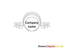 Image à colorier design – Logo clipart