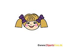 Fille heureuse dessin gratuit – Émoticônes image