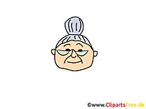 Grand-mère illustration – Émoticônes clipart