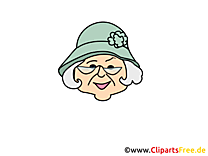 Grand-mère joyeuse clipart – Émoticônes images