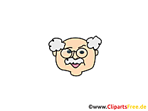Image gratuite grand-père – Émoticônes clipart