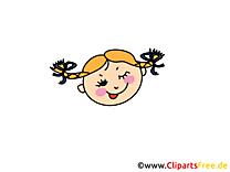 Jolie fille image à télécharger – Émoticônes clipart