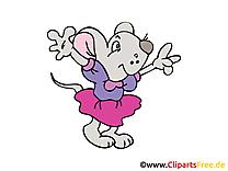 Souris heureuse clip arts gratuits – Émoticônes illustrations