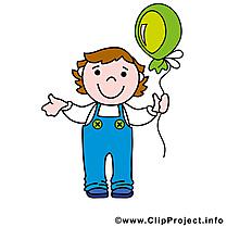 Ballon garçon illustration à télécharger gratuite