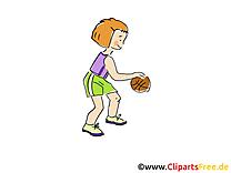 Basket-ball clip art gratuit – Enfant images gratuites