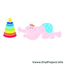 Bébé clip art – Jouet image gratuite