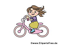 Bicyclette images - Fille dessins gratuits