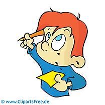 École dessin gratuit - Garçon clip arts gratuits