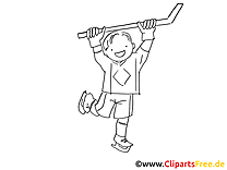 Hockey dessin à colorier - Enfant images