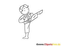 Judo images à imprimer - Enfant dessins gratuits
