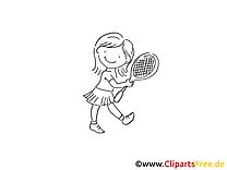 Tennis image à colorier - Enfant images cliparts