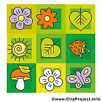Champignon feuilles dessins gratuits – Été clipart