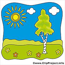 Ciel soleil été illustration à télécharger gratuite
