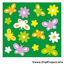 Clipart papillons – Été dessins gratuits