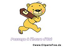 Ours heure clipart – Été dessins gratuits