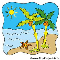 Palmes mer dessin – Été cliparts à télécharger