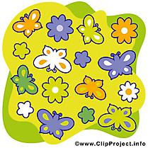 Papillons clip arts gratuits – Été illustrations
