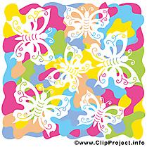 Papillons dessins gratuits – Été clipart