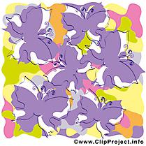 Papillons image gratuite – Été clipart